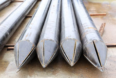 El metal grande instala tubos el pointe Fotos de archivo libres de regalías