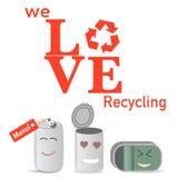 El metal recicla el cartel Imagenes de archivo