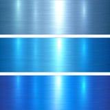 El metal texturiza el azul Foto de archivo libre de regalías