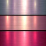 El metal texturiza rosa y rojo Imagen de archivo