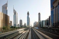 El metro de Dubai es primer monocarril en Oriente Medio Fotografía de archivo