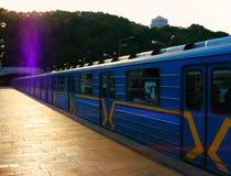 El metro de Kiev imágenes de archivo libres de regalías