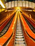 El metro de la ciudad de Praga fotos de archivo