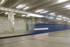 El metro de Moscú como medio para el transporte Fotografía de archivo libre de regalías