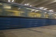 El metro de Moscú como medio para el transporte Foto de archivo