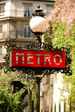 El metro firma adentro París Imagen de archivo libre de regalías