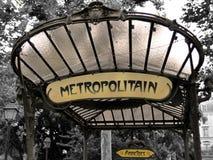 El metro firma adentro París - abadesas Foto de archivo libre de regalías
