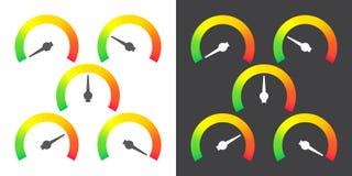 El metro firma el ejemplo infographic del vector del elemento del indicador Fotos de archivo