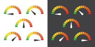 El metro firma el elemento infographic del indicador Foto de archivo