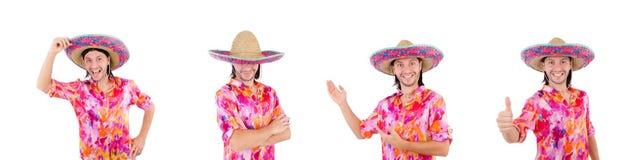 El mexicano divertido con el sombrero del sombrero foto de archivo libre de regalías