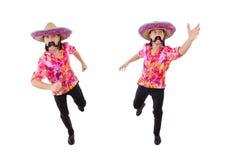 El mexicano divertido con el sombrero en concepto imágenes de archivo libres de regalías