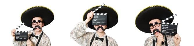 El mexicano divertido con el tablero de la película foto de archivo