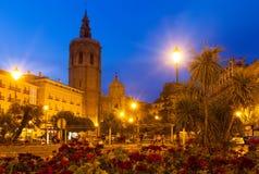 El Micalet和大教堂。巴伦西亚,西班牙 免版税库存照片