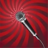El micrófono irradia el vector 2 Foto de archivo libre de regalías