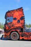El miedo de las ilustraciones oscuras del camión pesado Fotografía de archivo