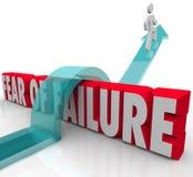 El miedo del fracaso supera incertidumbre de la ansiedad del desafío sobre 3d W ilustración del vector