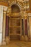 El mihrab del complejo de Qalawun Imagenes de archivo