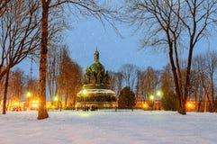 El milenio del monumento de Rusia Fotos de archivo libres de regalías