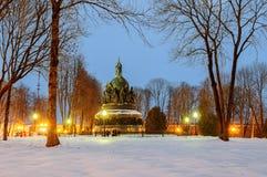 El milenio del monumento de Rusia Imagenes de archivo