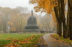 El milenio del monumento de Rusia Fotografía de archivo