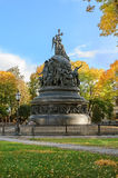 El milenio del monumento de Rusia Imágenes de archivo libres de regalías
