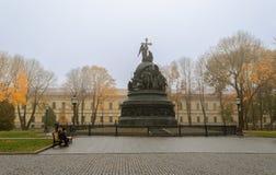 El milenio del monumento de Rusia Imagen de archivo libre de regalías