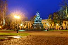 El milenio del monumento de Rusia en Novgorod Fotografía de archivo