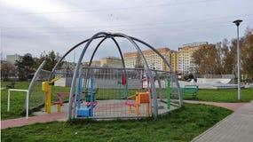 El mini gimnasio en el aire Imagen de archivo