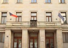 El Ministerio de Finanzas de la República Checa Fotografía de archivo libre de regalías