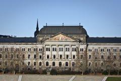 El Ministerio de Finanzas sajón del estado en Dresden Fotos de archivo libres de regalías