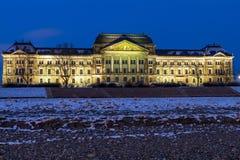El Ministerio de Finanzas sajón, Dresden fotografía de archivo