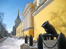 El Ministerio de marina en Petersburgo Fotos de archivo