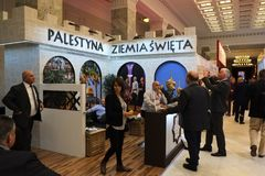 El ministerio de Palestina del turismo en TT Varsovia 2017 Foto de archivo