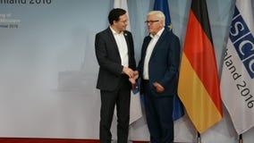 El Ministro de Asuntos Exteriores federal Dr Frank-Walter Steinmeier acoge con satisfacción a Daniel Mitov almacen de metraje de vídeo