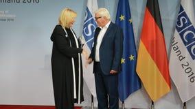 El Ministro de Asuntos Exteriores federal Dr Frank-Walter Steinmeier acoge con satisfacción a Dunja Mijatovic almacen de video