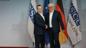 El Ministro de Asuntos Exteriores federal Dr Frank-Walter Steinmeier acoge con satisfacción a Ivica Dacic almacen de metraje de vídeo