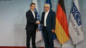 El Ministro de Asuntos Exteriores federal Dr Frank-Walter Steinmeier acoge con satisfacción a Nikola Poposki almacen de metraje de vídeo