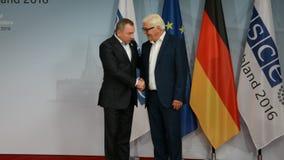 El Ministro de Asuntos Exteriores federal Dr Frank-Walter Steinmeier acoge con satisfacción a Vladimir Makei metrajes