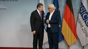 El Ministro de Asuntos Exteriores federal Dr Frank-Walter Steinmeier da la bienvenida a Sirodjidin Aslov almacen de video