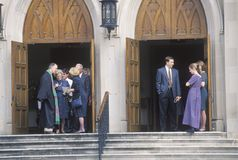 El ministro hace frente a la congregación en la iglesia metodista en Macon Georgia Fotografía de archivo
