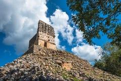 El Mirador mayan pyramid, Labna ruins, Yucatan, Mexico Royalty Free Stock Image