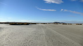 El Mirage Dry Lake Desert Driving Time Lapse stock video footage