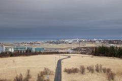 El mirar abajo el aeropuerto Fotografía de archivo