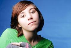 El mirar fijamente de la muchacha Fotografía de archivo libre de regalías
