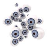 El mirar fijamente de las bolas del ojo azul Imágenes de archivo libres de regalías