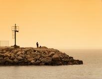 El mirar fijamente el mar Imagen de archivo