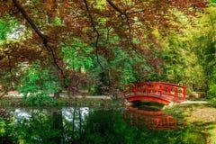 El mismo puente rojo Foto de archivo libre de regalías