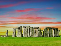 El misterio de Stonehenge Imagenes de archivo