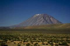 El Misti火山 免版税库存照片