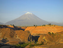 El Misti, the volcano of Peru Stock Photo